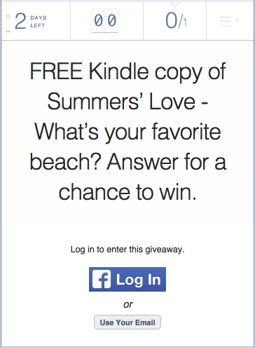 FREE Kindle copy of Summers' Love - What's your favorite beach? Answer for a chance to win.