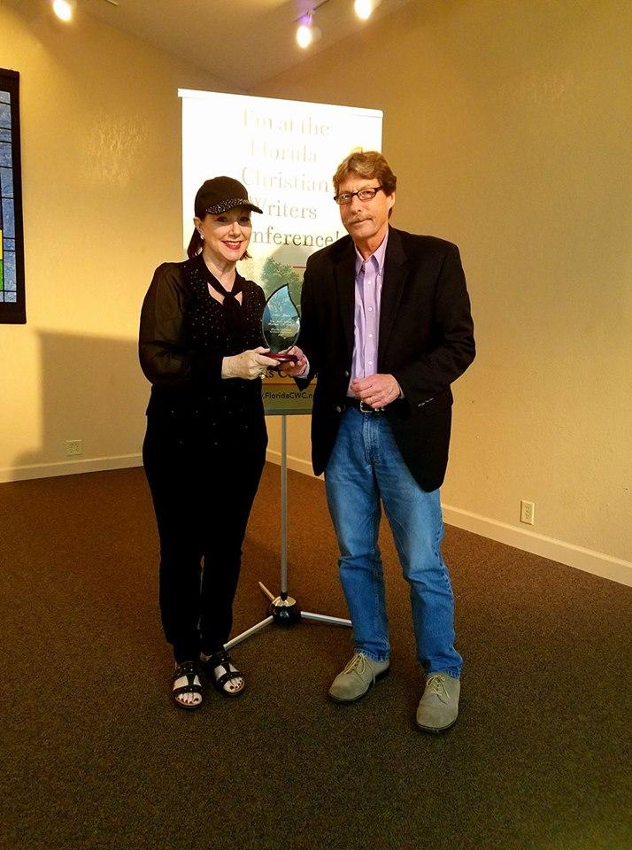 Awarding Eddie Jones the #FCWC 2017 Billie Wilson Matthew 5:16 award.